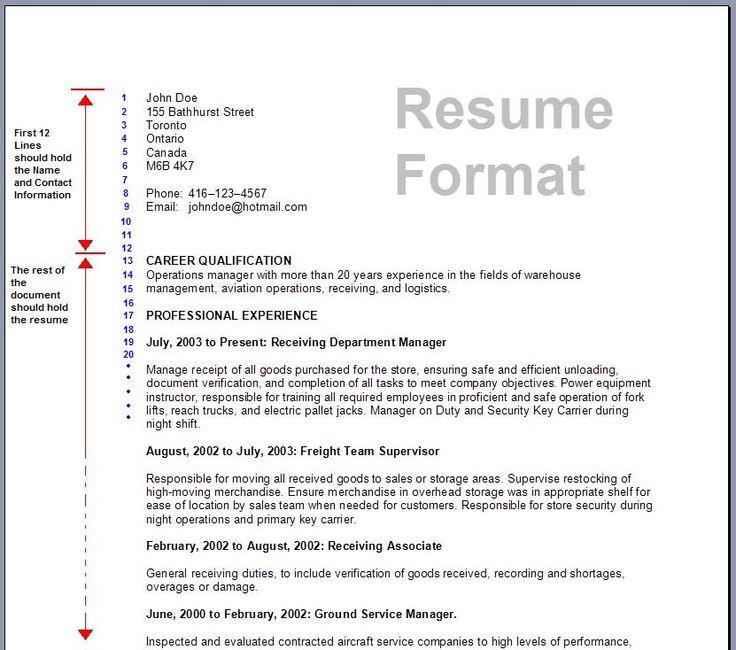 best 25  good resume format ideas on pinterest