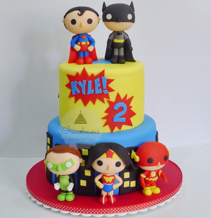 Justice League cake by Gracielicious Cakes