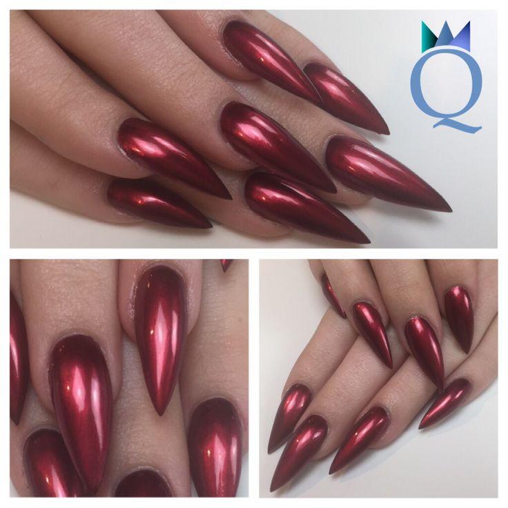 #longnails #gelnails #nails #stilleto #red #metallic #langenägel #gelnägel #nägel #stilletonägel #rot #metallic #nagelstudio #möhlin #nailqueen_janine