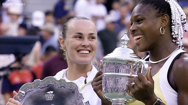 Serena has 36 total Grand Slam titles, 21 of those in singles now - starting with the 1999 US Open...