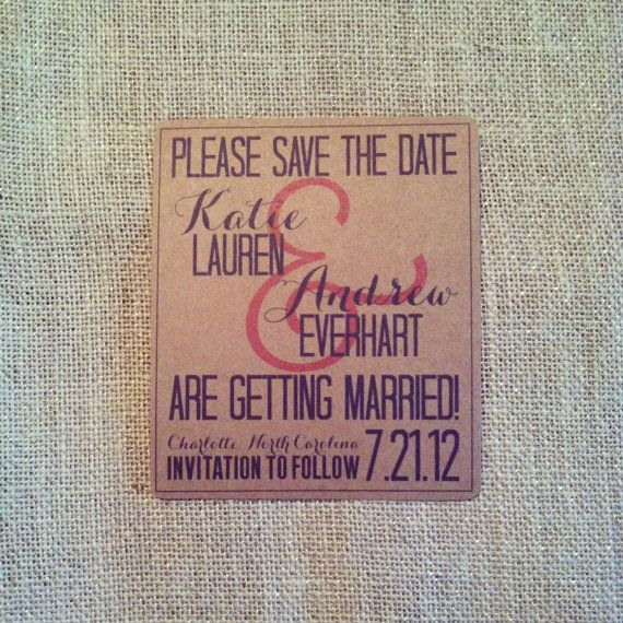Save The Date Magnet With Envelope Rustic Shabby by TheRustique, $1.25
