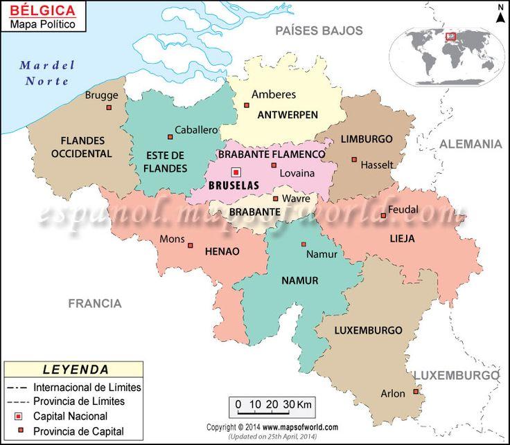 mapa-belgica Uno de los miembros fundadores de la UE, Bélgica respalda firmemente una economía libre y la expansión de las autoridades de las organizaciones de la UE para amalgamar las economías de los estados miembro.