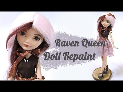 Raven Queen doll repaint - YouTube