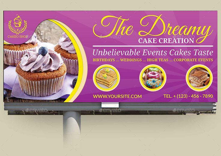 Cake Shop Advertising Bundle Vol 2 Cake Shop Shop Banner Design Buy Cake