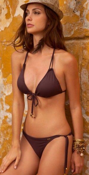 Sav 2013 Brown Triangle Bikini - Oye Swimwear - southbeachswimsuits.com