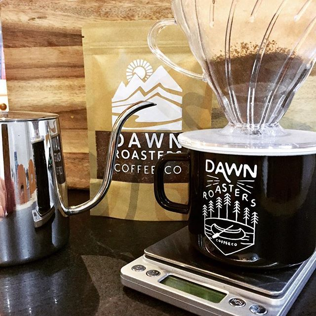 No better way to start the day than with a cup of freshly roasted Italian Blend #dawnroasterscoffeeco . . . . #dripcoffee #coffee #coffeebrewing #pourovercoffee #gooseneckkettle #v60 #v60coffee #morningcoffee