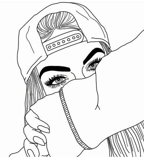 a drawing for a teenage girl holding an iphone   pιnтereѕт: jade2244 ♡   Drawings   Pinterest   Mädchen Skizze ...