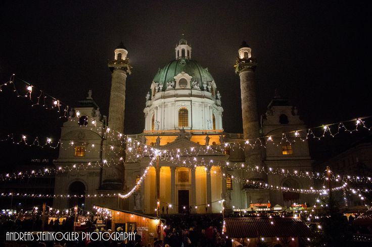 charle's christmas - A look at the Charle's Church in Vienna at night, part III.