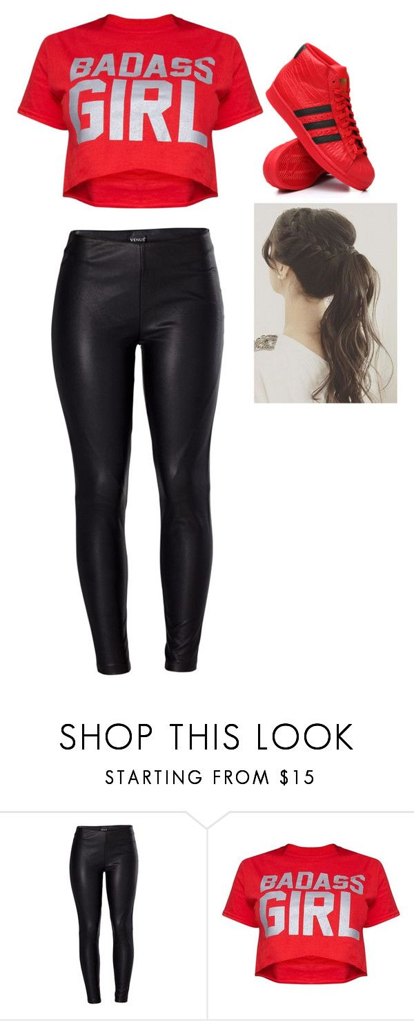outfit by luzpineda on Polyvore featuring moda, Venus and adidas