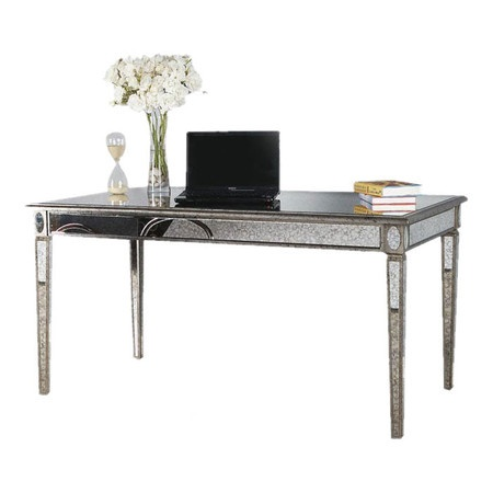 lusetta desk at joss main eclectic glam home pinterest grey walls beautiful and furniture. Black Bedroom Furniture Sets. Home Design Ideas