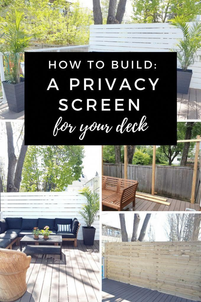 how to build a privacy screen for your deck houses on the outside rh pinterest com
