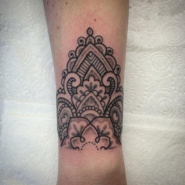 half mandala dotwork tattoo - Google zoeken                                                                                                                                                                                 More