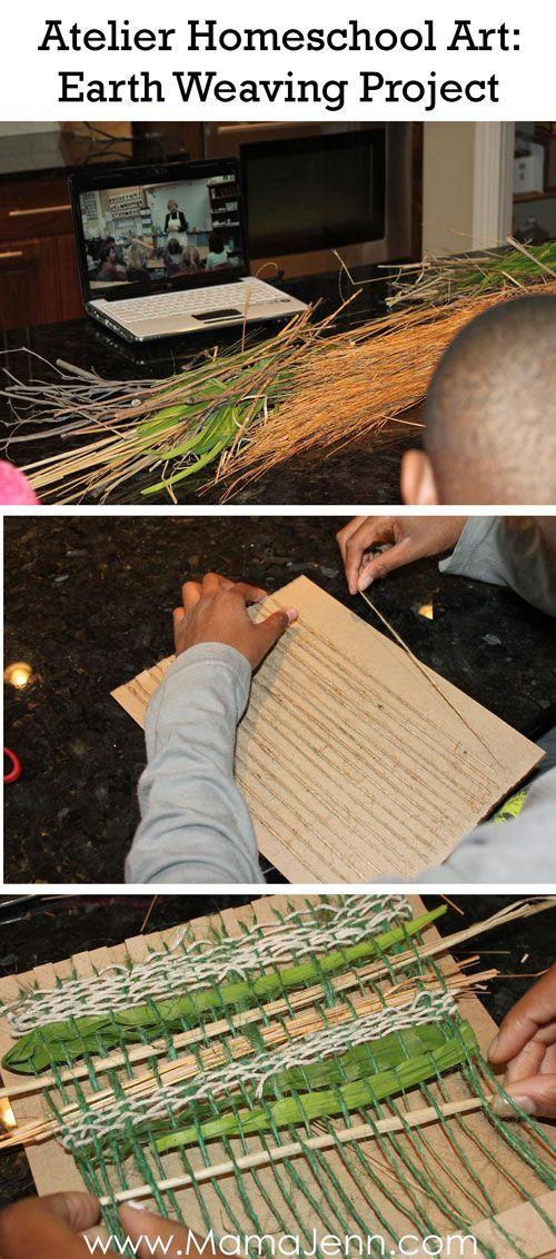 Atelier Homeschool Art Earth Weaving Lesson