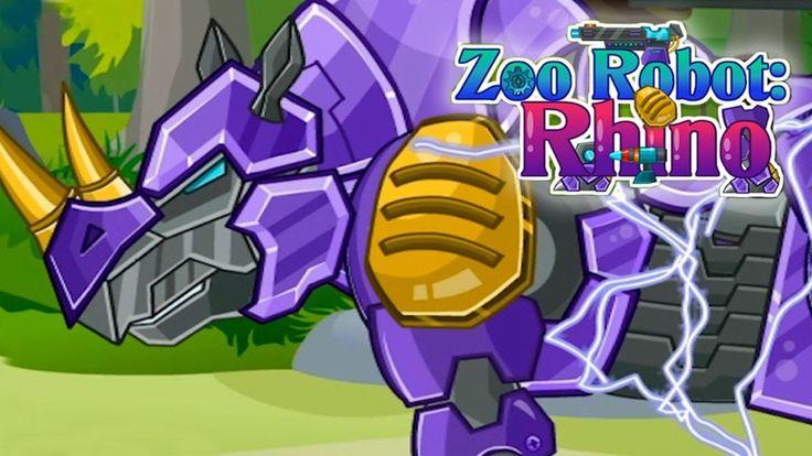 Робот - Носорог - Трансформер для детей_Мультики для малышей HD