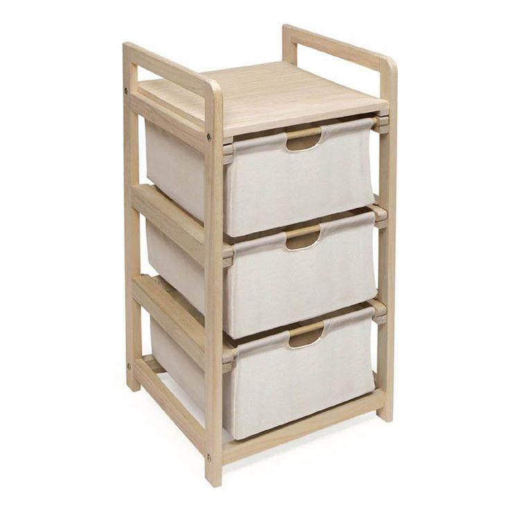 Hamper 3-Drawer Storage Unit | from hayneedle.com