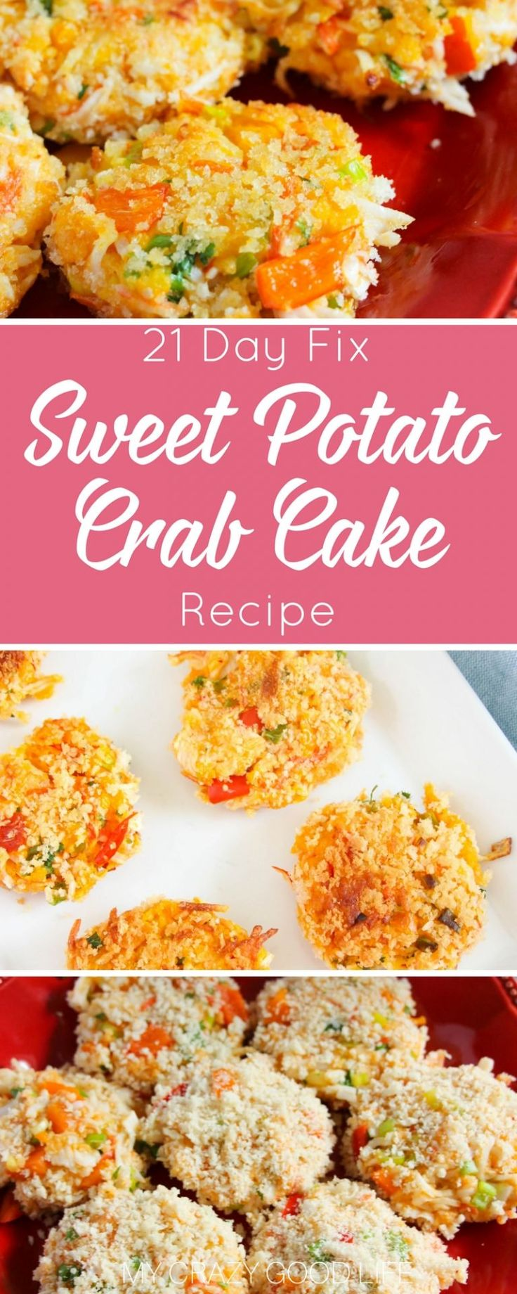 If you are looking for a healthy crab cake recipe you've come to the right spot! These sweet potato crab cakes are so easy and very delicious! 21 Day Fix Crab Cakes with container counts.