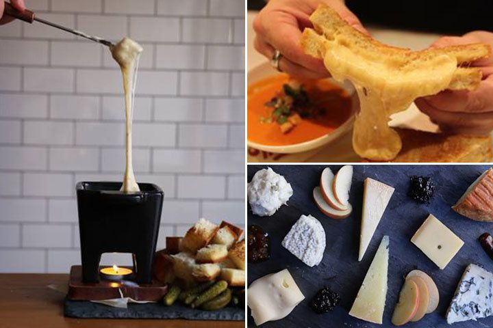 ニューヨークはマンハッタンのダウンタウンにあるチーズ専門店「Murray's Cheese」(ムレイズ・チーズ)。1940年に創業した、地元の人に愛される老舗店です。  その数軒隣にはこの店の姉妹店でチーズ専門のチーズバーがあります。4年前のオープン以来、地元の人を中心に支持されているお店です。とろ〜りあつあつのフォンデュやラクレットなど、バラエティ豊かなチーズ料理が楽しめますよ。
