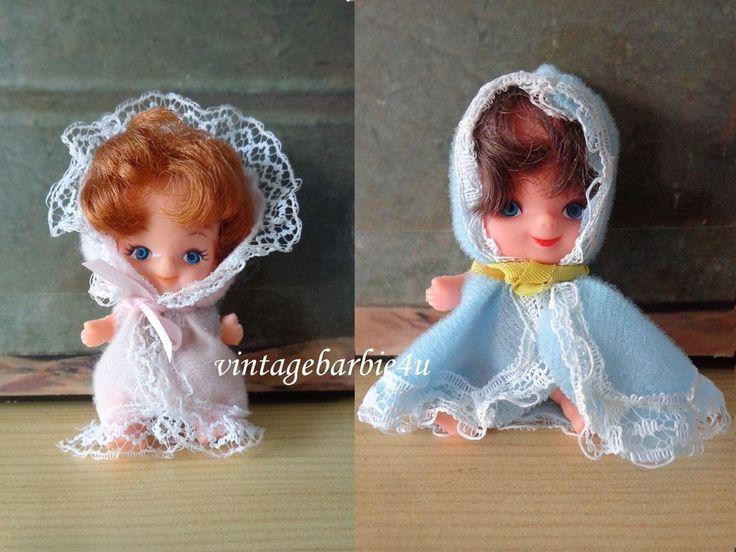 Vintage Baby Doll Lot Hong Kong Little Kiddle LAL HTF ~ 3  Dolls