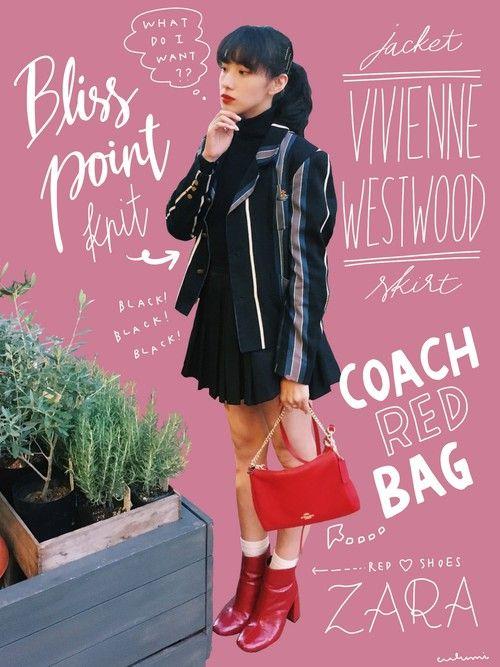 vivienneのビンテージジャケットを着て、イタリアンランチした日。ジャケットがインパクト大なのでインナーとスカートはシンプルな黒で統一してます。  差し色で赤を!と思い、小物は赤にしてみました。このZARAのブーツは本当に万能だ…買ってよかった…  アウトレット破格で買ったCOACHのバッグは2wayです。チェーンストラップにすると高級感が出て大人っぽく使えますね。    今日から11月! 秋と冬は私の大好きな季節です。 いろんなコーディネート載せられるように頑張ります〜〜 今月もよろしくお願いします☺️  ▼手書き文字について  ibis paintというアプリを使用しています。詳しい描き方についてはこちら   http://lineblog.me/culumi_nakada/archives/183883.html   ▲▲▲▲▲▲▲▲▲▲▲▲▲▲▲▲▲▲▲▲▲▲