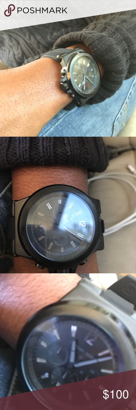 Michael Kors black Large face men's watch nwot New without tags never worn out Black Michael Kors watch Michael Kors Accessories Watches