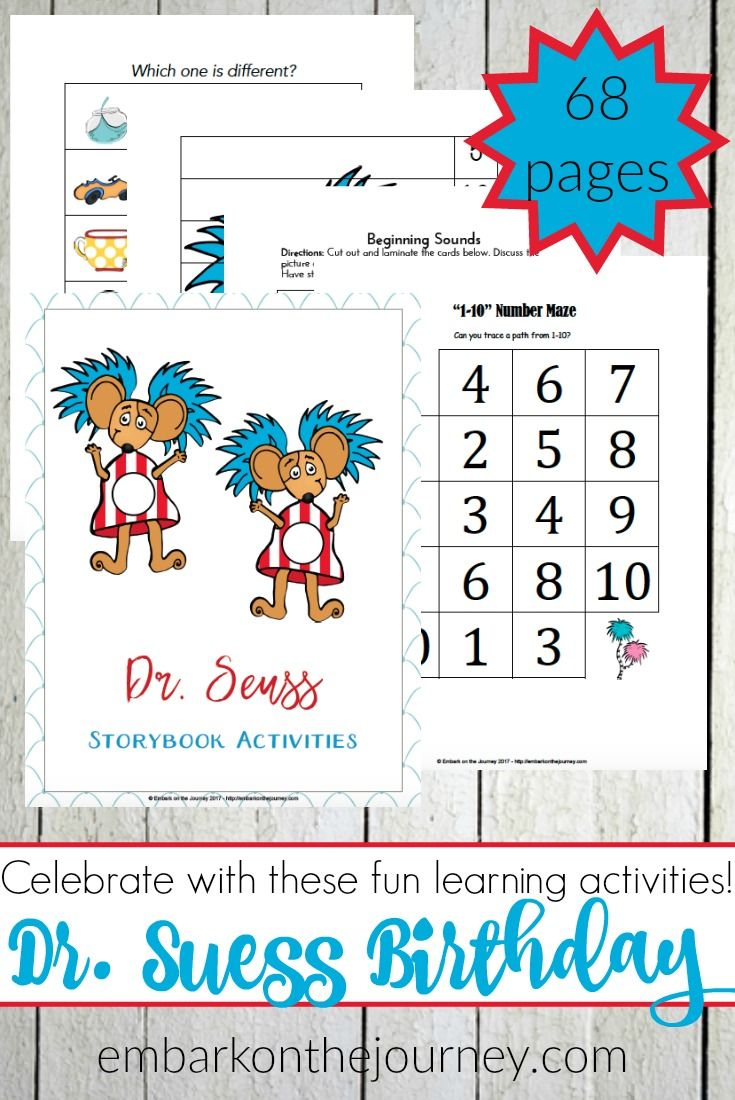 Celebrate dr seuss birthday or anyway with these free dr seuss quote - Celebrate Dr Seuss Birthday With Printables Hands On Fun