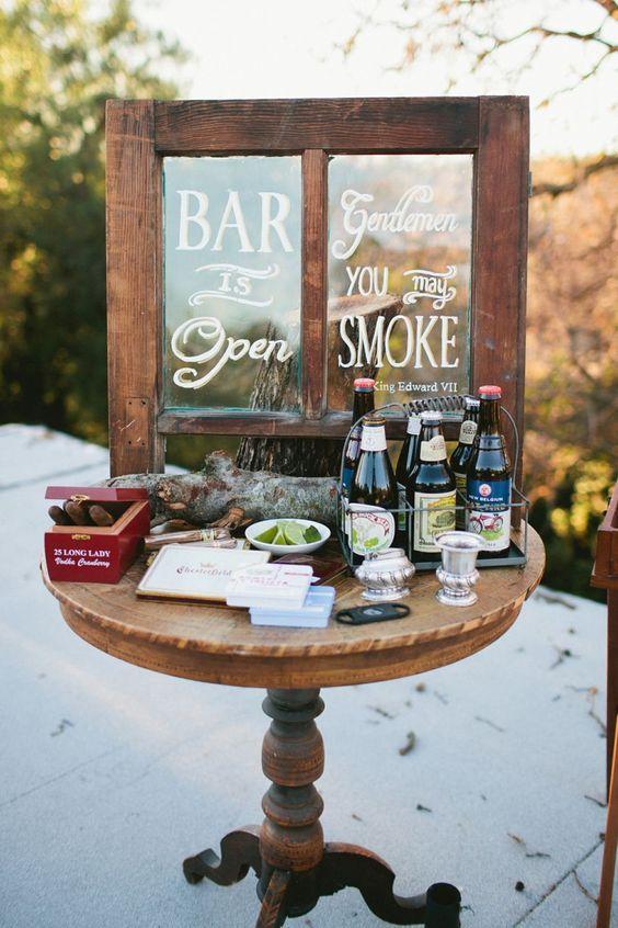 Cigar bar, herbs, wedding decor | Late Summer Love | Pinterest ...