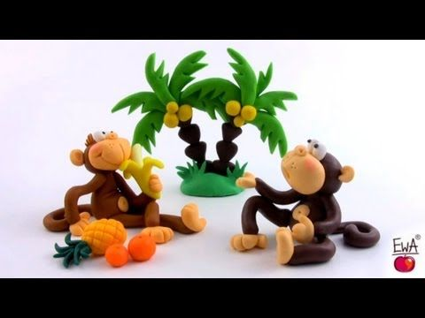 LET'S CLAY! Monkey tutorial - polymer clay - malpka z modeliny
