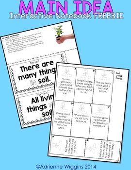 I created this freebie to benefit both my Main Idea Interactive Notebook and my Soil Interactive Notebook.  Students glue two main idea pockets into their interactive notebook and then sort detail cards into each pocket. This was a great activity that got my students thinking about how specific details support specific main ideas.