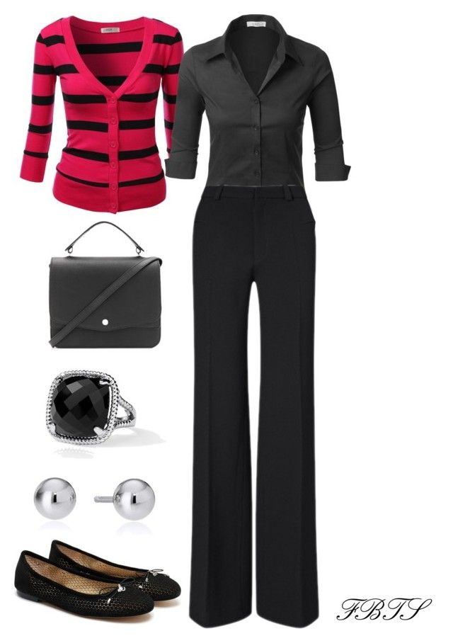 Business Casual Friday by flybeyondtheskies on Polyvore featuring J.TOMSON, LE3NO, Roland Mouret, Sam Edelman, Elizabeth and James and Blue Nile
