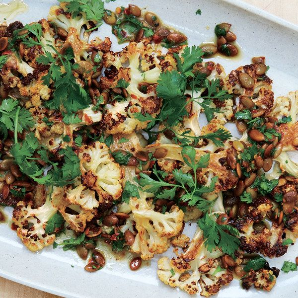 Cauliflower with Pumpkin Seeds, Brown Butter, and Lime