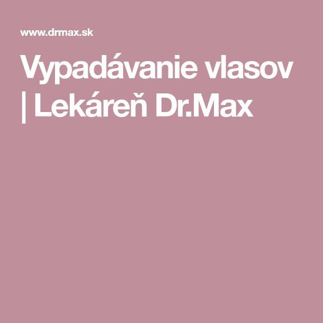 Vypadávanie vlasov | Lekáreň Dr.Max