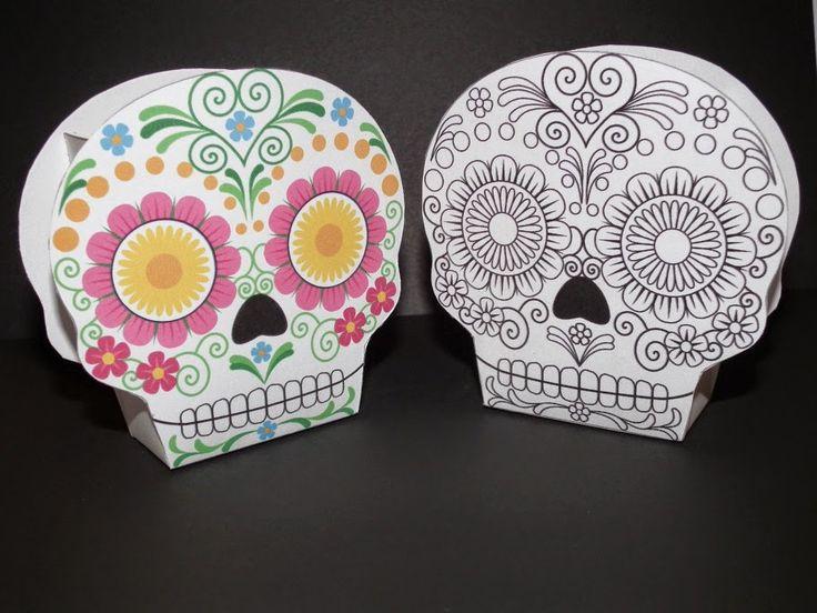 Calaveras Mexicanas: Cajas para Imprimir Gratis.