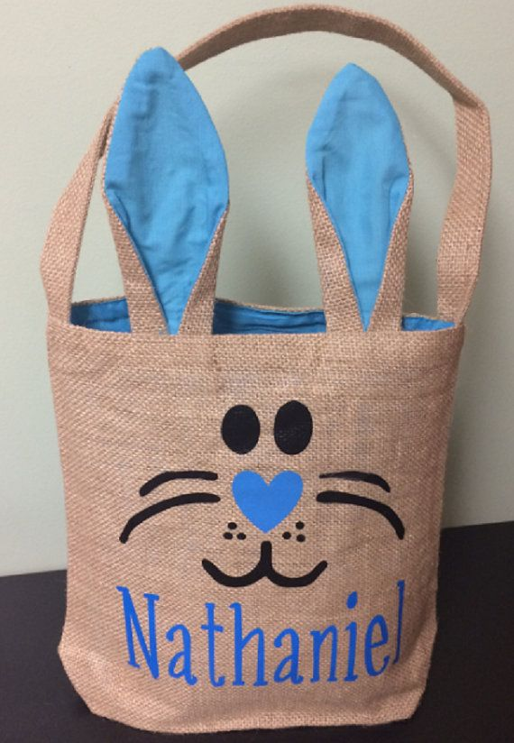 Personalized Easter basket. Perfect for Easter egg hunts!