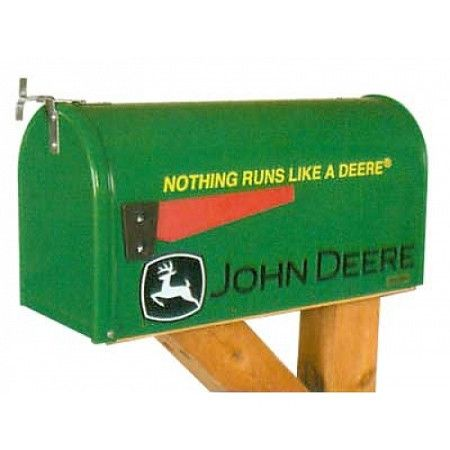 "John Deere ""Nothing Runs Like a Deere"" Rural Mailbox"