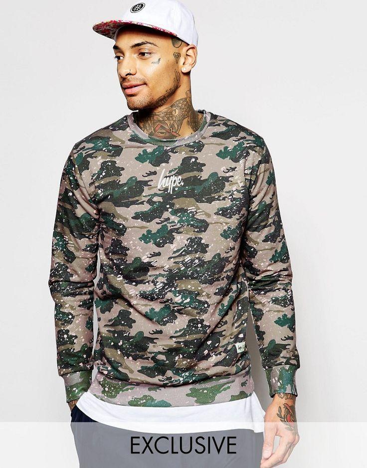 Hype+Sweatshirt+In+Paint+Splatter+Camo