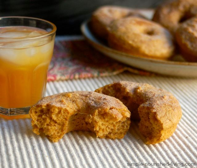It's Pumpkin Season!!! I've been waiting for what seems like forever to bake up a batch of these amazing healthy baked pumpkin doughnuts. 148 calories + 4 Weight Watchers Points Plus. http://simple-nourished-living.com/2014/09/healthy-baked-pumpkin-doughnuts-recipe/