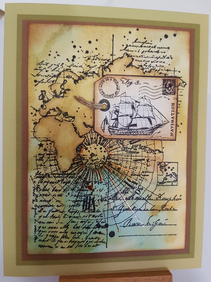 Carnet de Voyage SA60287 by Carabelle Studio; Transport Tags Cl428 by Crafty Individuals. Card by Susan of Art Attic Studio.