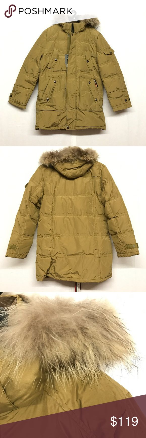 Men's puffer with hood 70% white duck feather. Real fur on hood. I'd love to answer your questions regarding to the item.  Also love to give discounts for bundles. I always ship safely and quickly. Feel free to make a reasonable offer if you love the item but not the price. Usually offers make deals!🤗 Jackets & Coats Puffers