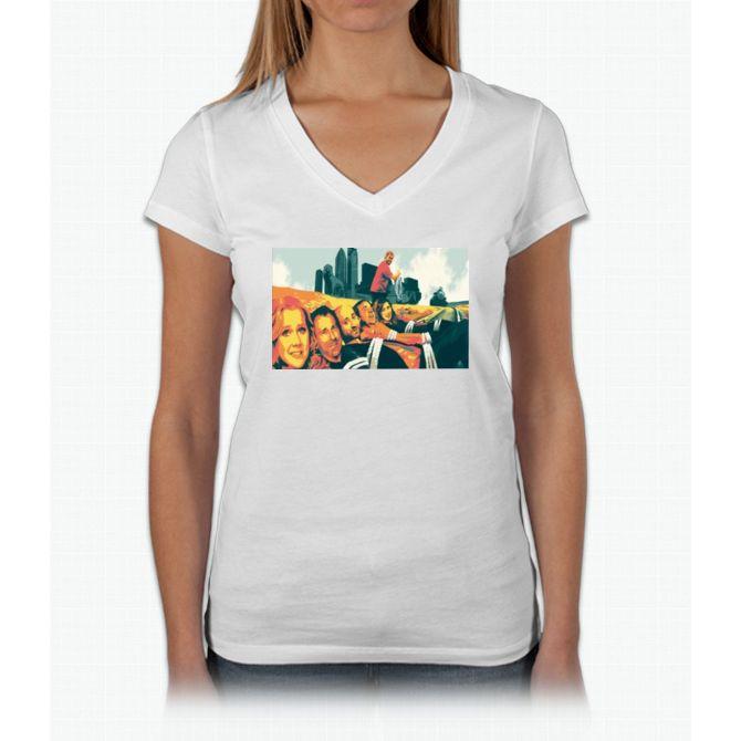 Trainwreck Amy Shumer Movie Bee Movie Womens V-Neck T-Shirt