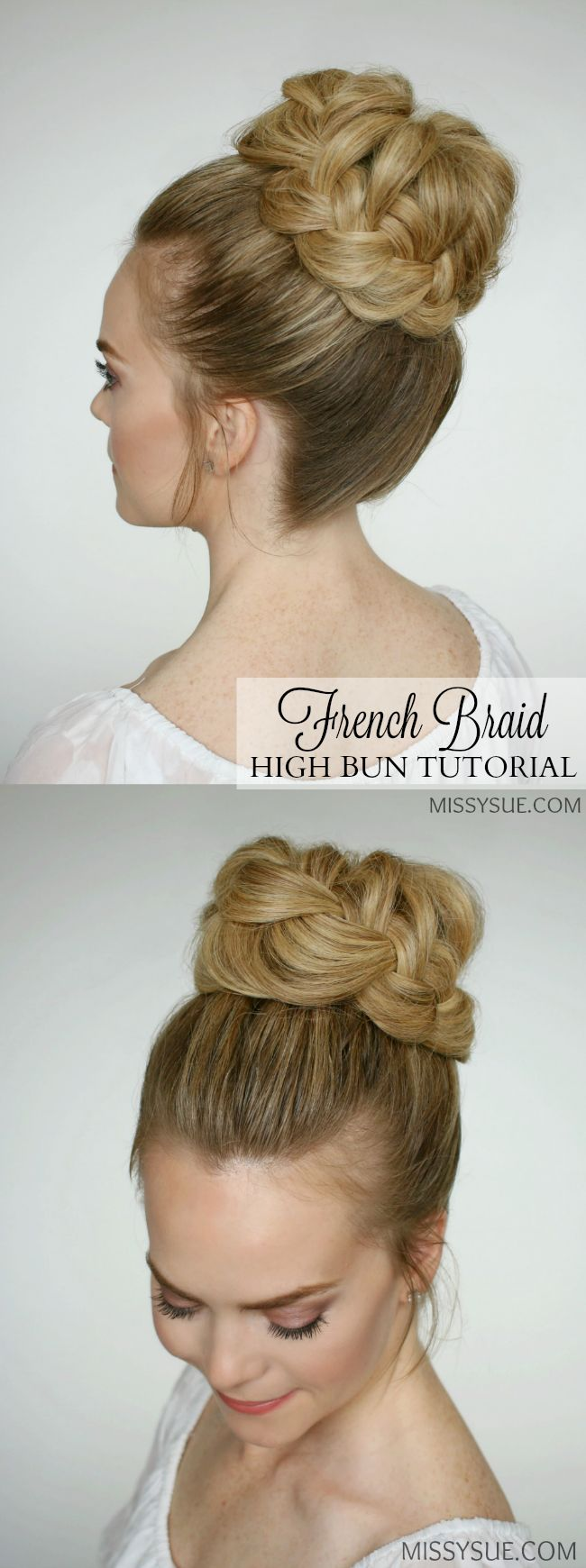 Prom and bridal season are here and I am so excited to be featuring a tutorial for this hairstyle. I've seen it before on younger girls but think it is a perfect style for a more formal occasion. High buns are so chic and I know…
