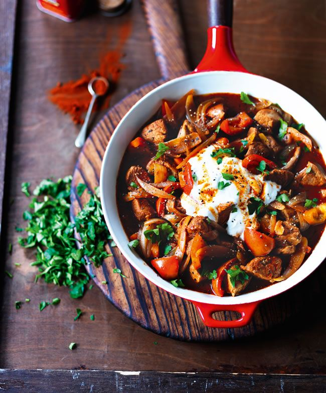 healthy Paprika meat dish