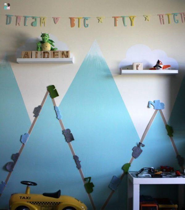 Kinderzimmer DIY – Straßen & Autos an der Wand – freebie