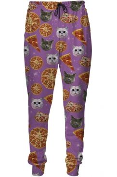 $21.79 Free Shipping Worldwide for Womens Pizza Cat 3D Digital Print Leisure Harem Sweatpants Purple, on sale now at our lowest price ever! Shop PinkQueen.com, the sexy way to save.
