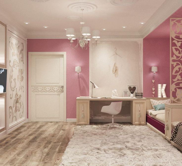Детская для девочек в розовых тонах