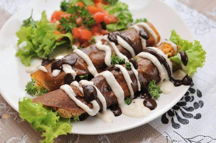 Raw Enchiladas by our Pure Raw Chef & teacher @thirstysoul_bali