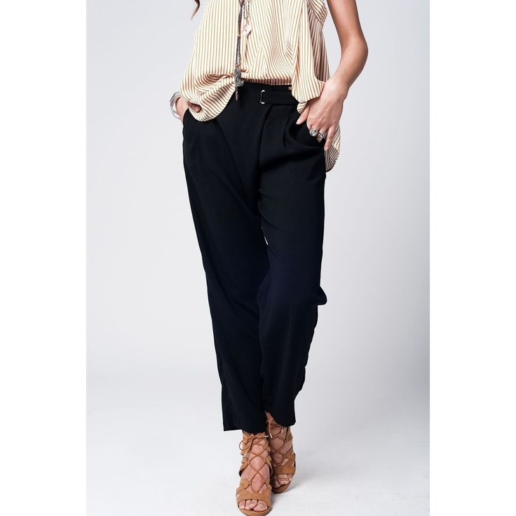 Black wide leg trousers with waist detail  #beautiful #love #fashion #shopping #getit #women #girls #sexy #designers #pretty