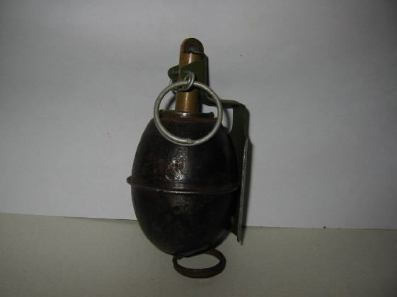 Norwegian M39 offensive grenade w/ Tennmek fuze  This used the body
