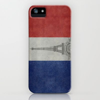 National Flag of France with Eiffel Tower  with Vintage treatment iPhone & iPod Case by LonestarDesigns2020 - Flags Designs + - $35.00