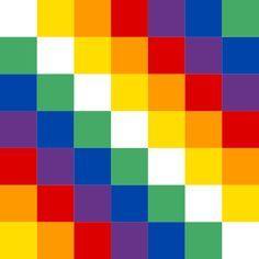 """La Wiphala es lo que los criados en la cultura occidental conocemos como """"la bandera de los pueblos originarios"""". Pero en realidad es mucho... Rainbow Wallpaper, Metal Walls, Pattern Wallpaper, Wall Signs, Flag, Etsy, World, Inca Tattoo, Simple Tumblr Drawings"""