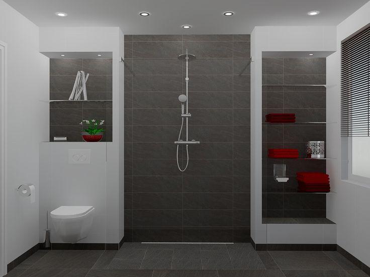 25 beste idee n over betegelde badkamers op pinterest - Doucheruimte idee ...